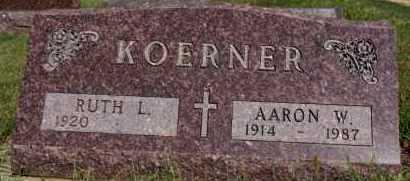 KOERNER, AARON W - Hutchinson County, South Dakota | AARON W KOERNER - South Dakota Gravestone Photos