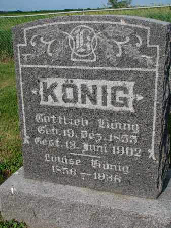 KONIG, GOTTLIEB - Hutchinson County, South Dakota | GOTTLIEB KONIG - South Dakota Gravestone Photos