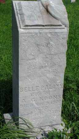 ALLYN KOONS, BELLE P. - Hutchinson County, South Dakota | BELLE P. ALLYN KOONS - South Dakota Gravestone Photos