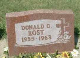 KOST, DONALD O. - Hutchinson County, South Dakota   DONALD O. KOST - South Dakota Gravestone Photos