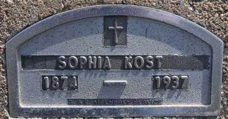 KOST, SOPHIA - Hutchinson County, South Dakota | SOPHIA KOST - South Dakota Gravestone Photos