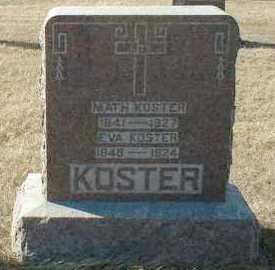 KOSTER, EVA - Hutchinson County, South Dakota | EVA KOSTER - South Dakota Gravestone Photos