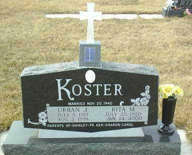 KOSTER, RITA - Hutchinson County, South Dakota | RITA KOSTER - South Dakota Gravestone Photos