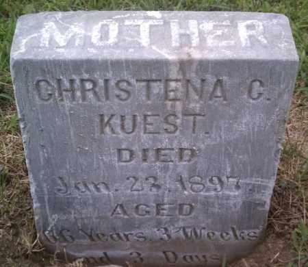 KUEST, CHRISTENA C - Hutchinson County, South Dakota   CHRISTENA C KUEST - South Dakota Gravestone Photos