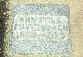 KURTENBACH, CHRISTINA - Hutchinson County, South Dakota | CHRISTINA KURTENBACH - South Dakota Gravestone Photos