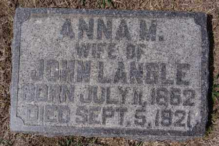 LANGLE, ANNA M - Hutchinson County, South Dakota | ANNA M LANGLE - South Dakota Gravestone Photos