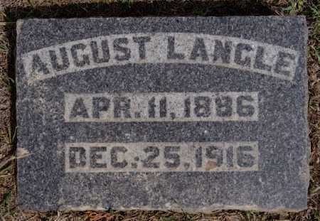 LANGLE, AUGUST - Hutchinson County, South Dakota | AUGUST LANGLE - South Dakota Gravestone Photos
