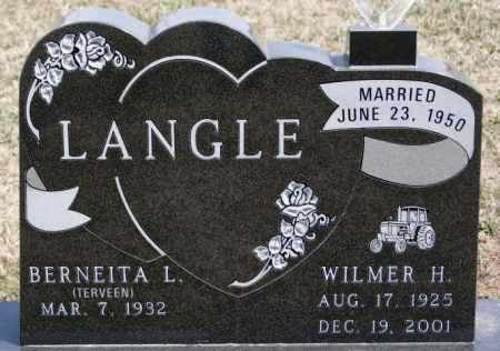 LANGLE, WILMER H - Hutchinson County, South Dakota | WILMER H LANGLE - South Dakota Gravestone Photos