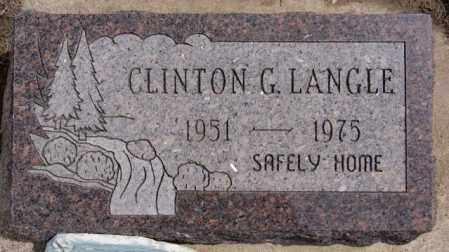 LANGLE, CLINTON G - Hutchinson County, South Dakota | CLINTON G LANGLE - South Dakota Gravestone Photos