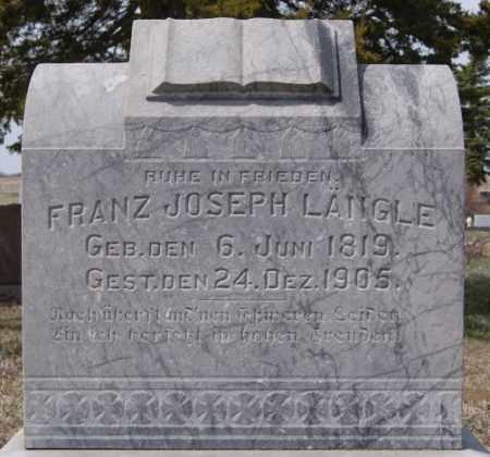 LANGLE, FRANZ JOSEPH - Hutchinson County, South Dakota   FRANZ JOSEPH LANGLE - South Dakota Gravestone Photos