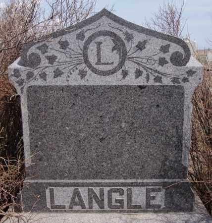 LANGLE, FAMILY MARKER - Hutchinson County, South Dakota   FAMILY MARKER LANGLE - South Dakota Gravestone Photos