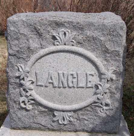 LANGLE, FAMILY MARKER - Hutchinson County, South Dakota | FAMILY MARKER LANGLE - South Dakota Gravestone Photos