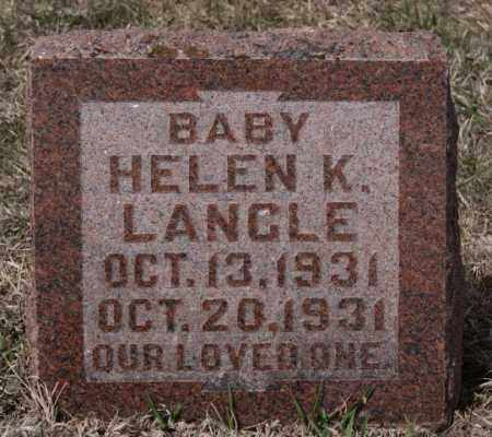 LANGLE, HELEN K - Hutchinson County, South Dakota | HELEN K LANGLE - South Dakota Gravestone Photos