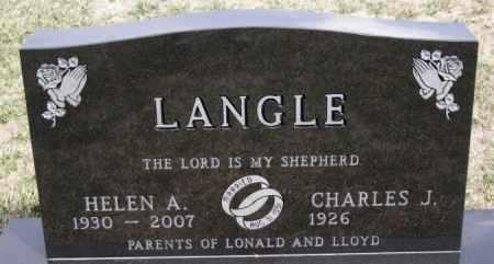 LANGLE, CHARLES J - Hutchinson County, South Dakota | CHARLES J LANGLE - South Dakota Gravestone Photos