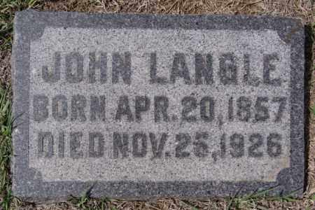 LANGLE, JOHN - Hutchinson County, South Dakota   JOHN LANGLE - South Dakota Gravestone Photos
