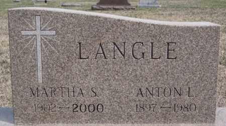 LANGLE, MARTHA S - Hutchinson County, South Dakota | MARTHA S LANGLE - South Dakota Gravestone Photos