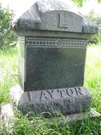 LAYTON, FAMILY PLOT MARKER - Hutchinson County, South Dakota | FAMILY PLOT MARKER LAYTON - South Dakota Gravestone Photos