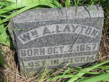 LAYTON, WM. A. - Hutchinson County, South Dakota   WM. A. LAYTON - South Dakota Gravestone Photos