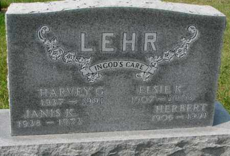 LEHR, HARVEY G. - Hutchinson County, South Dakota | HARVEY G. LEHR - South Dakota Gravestone Photos
