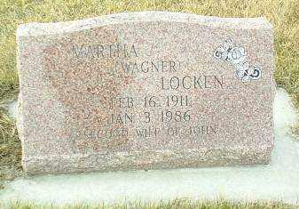 WAGNER LOCKEN, MARTHA - Hutchinson County, South Dakota   MARTHA WAGNER LOCKEN - South Dakota Gravestone Photos