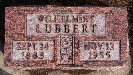 LUBBERT, WILHELMINE - Hutchinson County, South Dakota | WILHELMINE LUBBERT - South Dakota Gravestone Photos