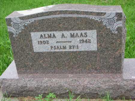 MAAS, ALMA A. - Hutchinson County, South Dakota | ALMA A. MAAS - South Dakota Gravestone Photos
