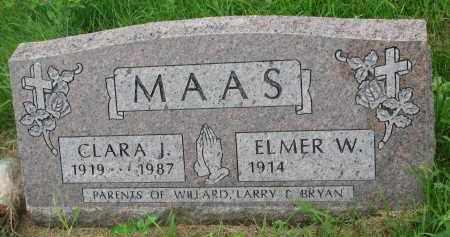 MAAS, ELMER W. - Hutchinson County, South Dakota | ELMER W. MAAS - South Dakota Gravestone Photos