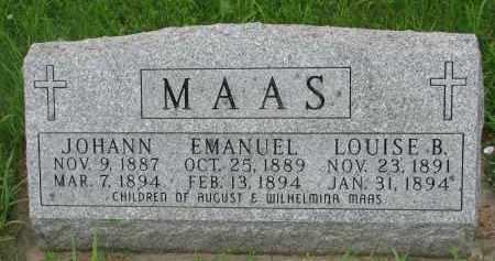 MAAS, LOUISE B. - Hutchinson County, South Dakota | LOUISE B. MAAS - South Dakota Gravestone Photos