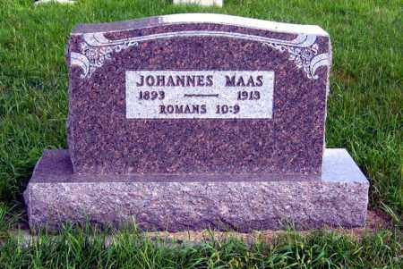 MAAS, JOHANNES - Hutchinson County, South Dakota   JOHANNES MAAS - South Dakota Gravestone Photos