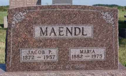 MAENDL, JACOB P - Hutchinson County, South Dakota | JACOB P MAENDL - South Dakota Gravestone Photos