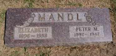 MANDL, ELIZABETH - Hutchinson County, South Dakota | ELIZABETH MANDL - South Dakota Gravestone Photos