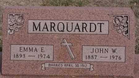MARQUARDT, JOHN W - Hutchinson County, South Dakota | JOHN W MARQUARDT - South Dakota Gravestone Photos