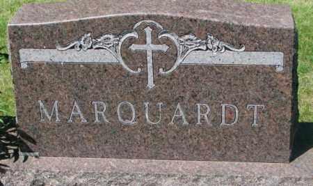 MARQUARDT, FAMILY PLOT MARKER - Hutchinson County, South Dakota | FAMILY PLOT MARKER MARQUARDT - South Dakota Gravestone Photos