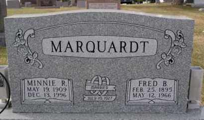 MARQUARDT, MINNIE R - Hutchinson County, South Dakota | MINNIE R MARQUARDT - South Dakota Gravestone Photos
