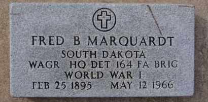 MARQUARDT, FRED B (WWI) - Hutchinson County, South Dakota | FRED B (WWI) MARQUARDT - South Dakota Gravestone Photos