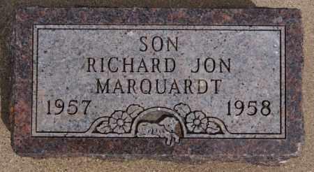 MARQUARDT, RICHARD JON - Hutchinson County, South Dakota | RICHARD JON MARQUARDT - South Dakota Gravestone Photos