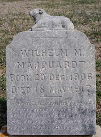 MARQUARDT, WILHELM M - Hutchinson County, South Dakota | WILHELM M MARQUARDT - South Dakota Gravestone Photos