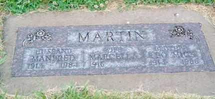 MARTIN, MANFRED - Hutchinson County, South Dakota | MANFRED MARTIN - South Dakota Gravestone Photos