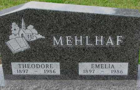 MEHLHAF, THEODORE - Hutchinson County, South Dakota | THEODORE MEHLHAF - South Dakota Gravestone Photos