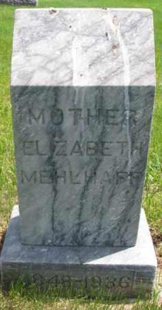 MEHLHAFF, ELIZABETH - Hutchinson County, South Dakota   ELIZABETH MEHLHAFF - South Dakota Gravestone Photos
