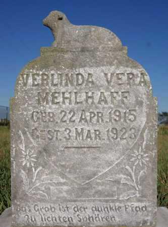 MEHLHAFF, VERLINDA VERA - Hutchinson County, South Dakota | VERLINDA VERA MEHLHAFF - South Dakota Gravestone Photos