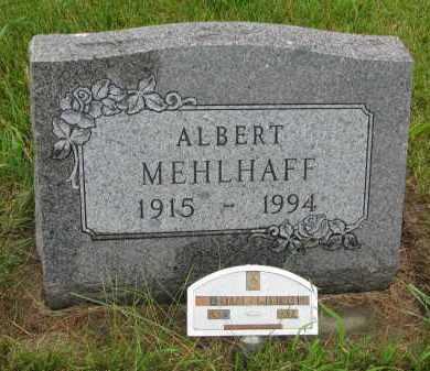 MEHLHAFF, ALBERT - Hutchinson County, South Dakota | ALBERT MEHLHAFF - South Dakota Gravestone Photos