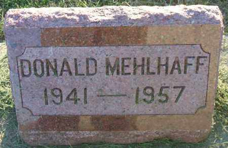 MEHLHAFF, DONALD - Hutchinson County, South Dakota   DONALD MEHLHAFF - South Dakota Gravestone Photos