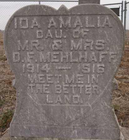 MEHLHAFF, IDA AMALIA - Hutchinson County, South Dakota | IDA AMALIA MEHLHAFF - South Dakota Gravestone Photos