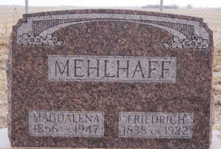 MEHLHAFF, MAGDALENA - Hutchinson County, South Dakota   MAGDALENA MEHLHAFF - South Dakota Gravestone Photos