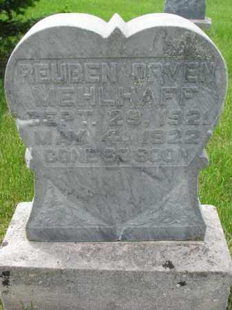 MEHLHAFF, REUBEN ORVEN - Hutchinson County, South Dakota   REUBEN ORVEN MEHLHAFF - South Dakota Gravestone Photos