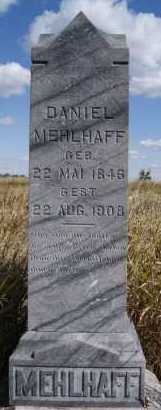 MEHLHAFF, DANIEL - Hutchinson County, South Dakota   DANIEL MEHLHAFF - South Dakota Gravestone Photos