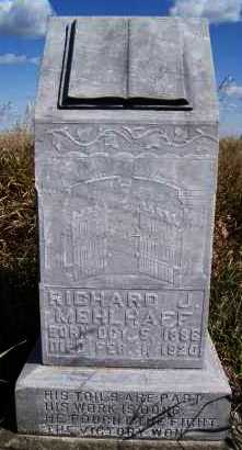MEHLHAFF, RICHARD J - Hutchinson County, South Dakota   RICHARD J MEHLHAFF - South Dakota Gravestone Photos