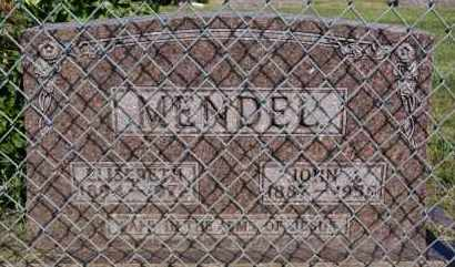 MENDEL, ELISEBETH - Hutchinson County, South Dakota   ELISEBETH MENDEL - South Dakota Gravestone Photos