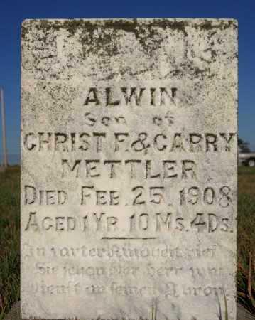 METTLER, ALWIN - Hutchinson County, South Dakota | ALWIN METTLER - South Dakota Gravestone Photos